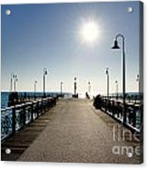 Pier In Backlight Acrylic Print