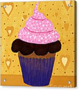 Pink Frosted Cupcake Acrylic Print