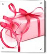 Pink Gift Acrylic Print by Blink Images