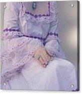 Pink Wedding Dress Acrylic Print