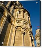 Pisa Tower And Cathedral Acrylic Print