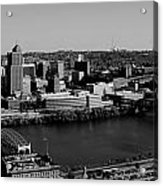 Pittsburgh In Black And White Acrylic Print