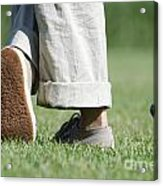 Playing Golf Acrylic Print