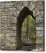 Poinsett Bridge With Gothic Arch Of Stone Acrylic Print