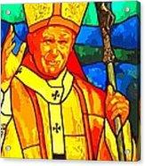 Pope John Paul 11 Acrylic Print