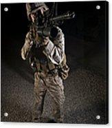 Portrait Of A U.s. Marine In Northern Acrylic Print