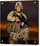 Portrait Of A U.s. Marine In Uniform Acrylic Print