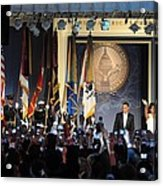 President And Michelle Obama Arrive Acrylic Print by Everett