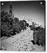 Princes Street Gardens On A Hot Summers Day In Edinburgh Scotland Uk United Kingdom Acrylic Print by Joe Fox
