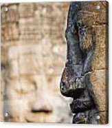 Profile Of Avalokiteshvara Statue Acrylic Print