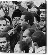 Profile Of Stokely Carmichael Speaking Acrylic Print by Everett