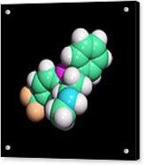 Prozac Antidepressant Drug Molecule Acrylic Print