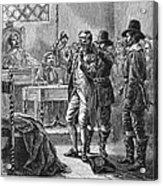 Puritan Punishment Acrylic Print by Granger