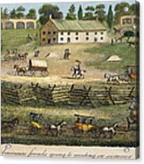 Quaker Meeting, 1811 Acrylic Print by Granger