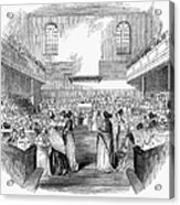 Quaker Meeting, 1843 Acrylic Print