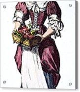 Quaker Woman 17th Century Acrylic Print by Granger