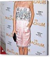 Rachel Bilson Wearing A Chanel Couture Acrylic Print