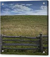 Rail Fence And Field Along The Blue Ridge Parkway Acrylic Print