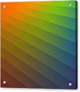 Rainbow Waves Acrylic Print