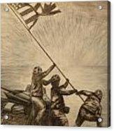 Raising The Flag Of Victory Acrylic Print