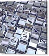 Rare Earth Metals, Conceptual Image Acrylic Print