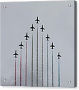 Red Arrows Vertical Acrylic Print by Jasna Buncic