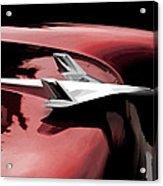 Red Chevy Jet Acrylic Print