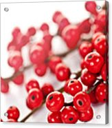 Red Christmas Berries Acrylic Print