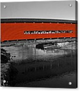 Red Covered Bridge Acrylic Print