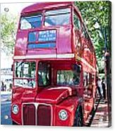Red London Bus Acrylic Print