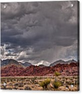 Red Rock Storm Acrylic Print