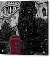 Red Telephone Box Acrylic Print