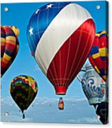 Red White And Balloons Acrylic Print