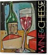 Red Wine And Cheese Poster Acrylic Print