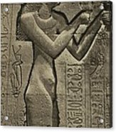 Relief Sculpture Of Cleopatra Vii 69-30 Acrylic Print by Everett