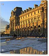 Richelieu Wing Of The Louvre Museum In Paris Acrylic Print