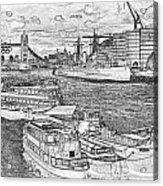 River Thames Art Acrylic Print