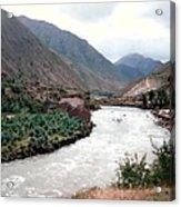 River Urubamba Through The Sacred Valley Of The Incas Acrylic Print by Ronald Osborne
