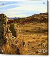 Rocky Painted Hills Acrylic Print