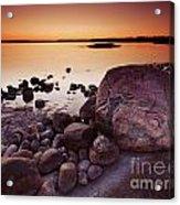 Rocky Shore At Twilight Acrylic Print