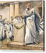 Roman Senate: Catiline Acrylic Print