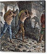 Roman Slavery: Coal Mine Acrylic Print