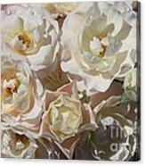 Romantic White Roses Acrylic Print
