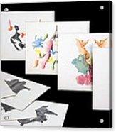 Rorshach Inkblot Test Acrylic Print
