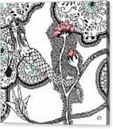 Rose Mermaid Acrylic Print