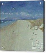 Ruakaka Beach Acrylic Print by Debra Piro