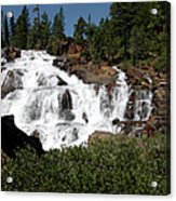 Running Water Glen Alpine Falls Acrylic Print