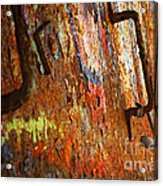 Rust Background Acrylic Print