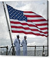 Sailors Stand At Parade Rest Acrylic Print