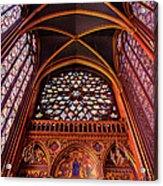 Saint Chapelle Acrylic Print